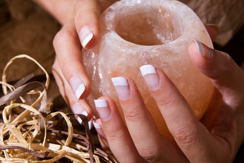 fransk manicure royaltyfri bild