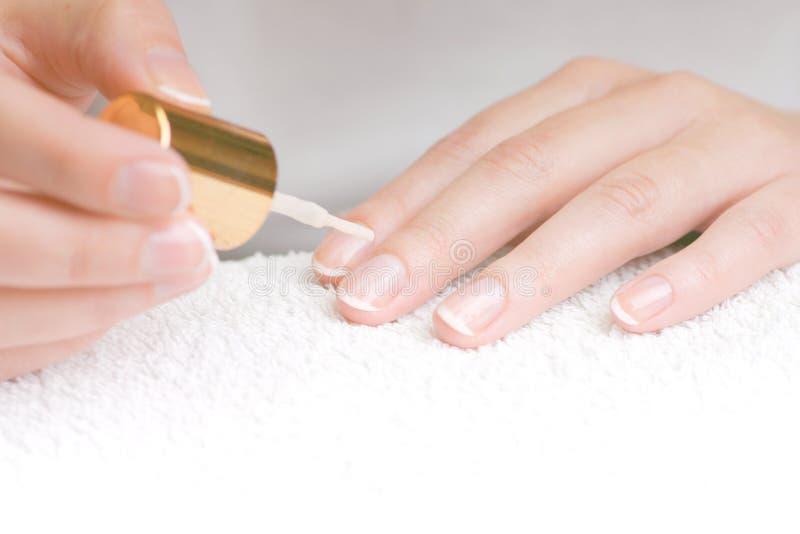 fransk manicure arkivfoton