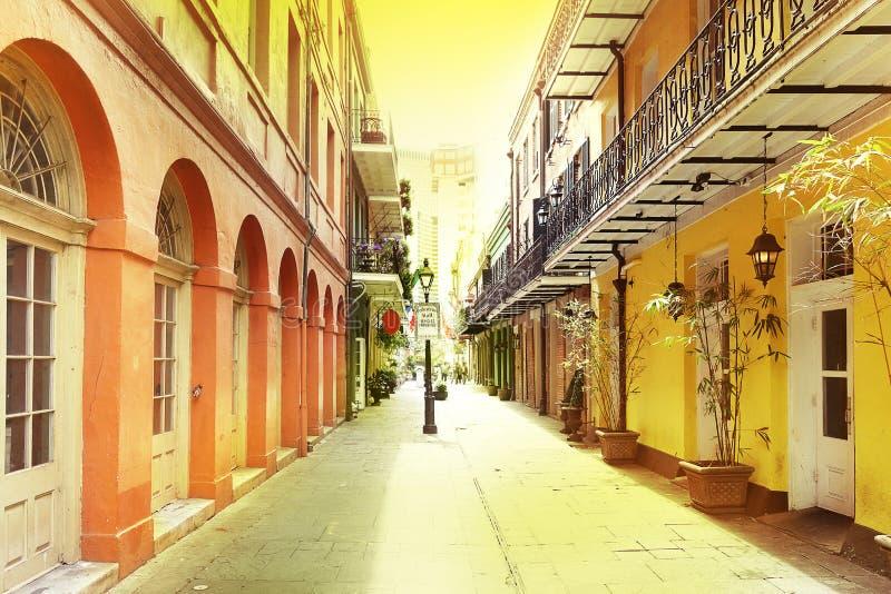 fransk New Orleans fjärdedel fotografering för bildbyråer