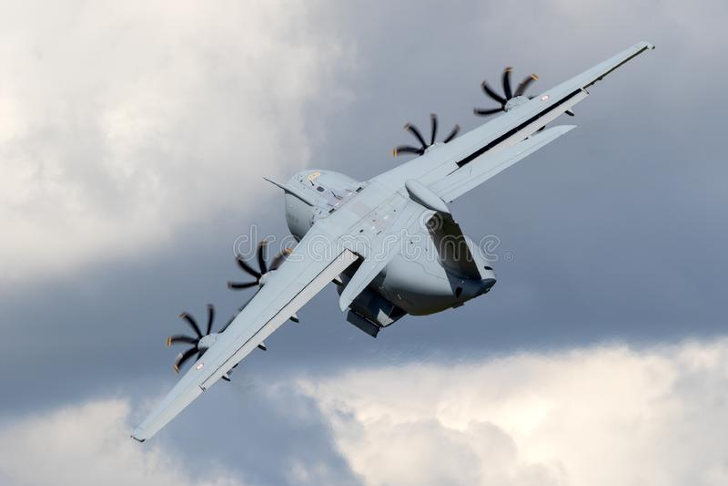 Fransk nivå för transport för flygvapenflygbuss A400M militär fotografering för bildbyråer