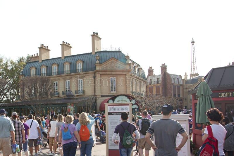 Fransk paviljong på Epcot royaltyfri bild