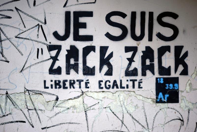 Fransk politisk slogandemokrati royaltyfri fotografi