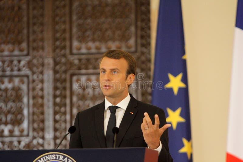 Fransk president Emmanuel Macron arkivbilder