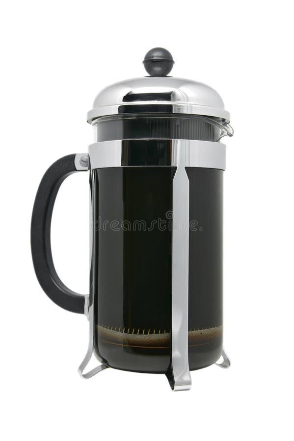 fransk press för kaffe royaltyfri bild
