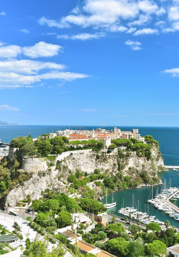 Fransk riviera för Monaco medelhav blå himmel royaltyfri fotografi