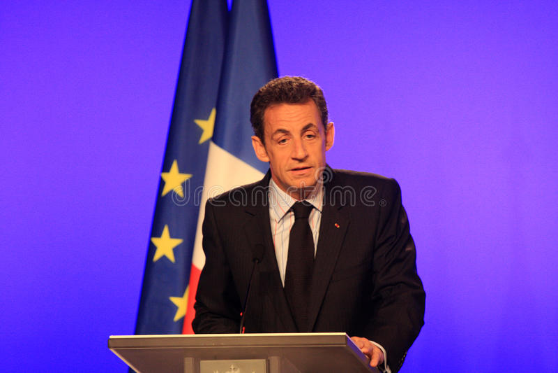 fransk sarkozy nicolas president s royaltyfria bilder
