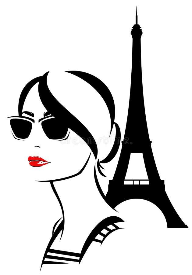 fransk stil royaltyfri illustrationer