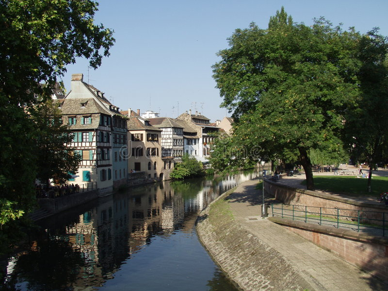 fransk strasbourg town arkivfoton