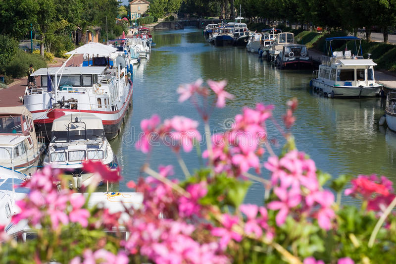 fransk waterway arkivbild