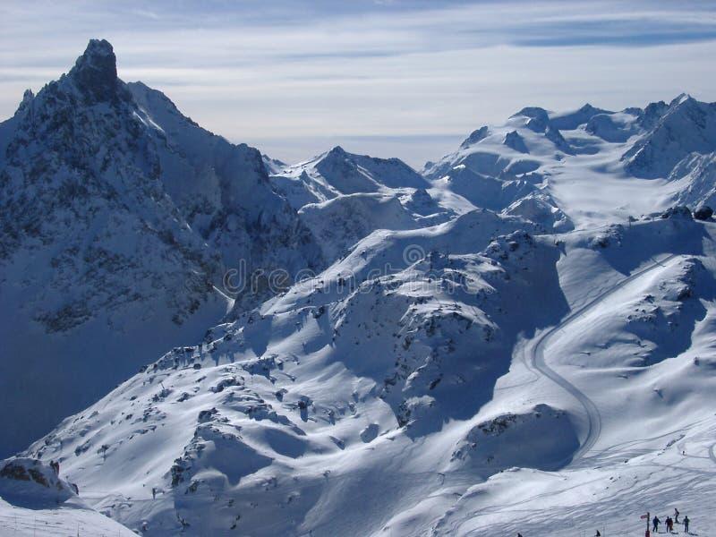 franska alps arkivfoto