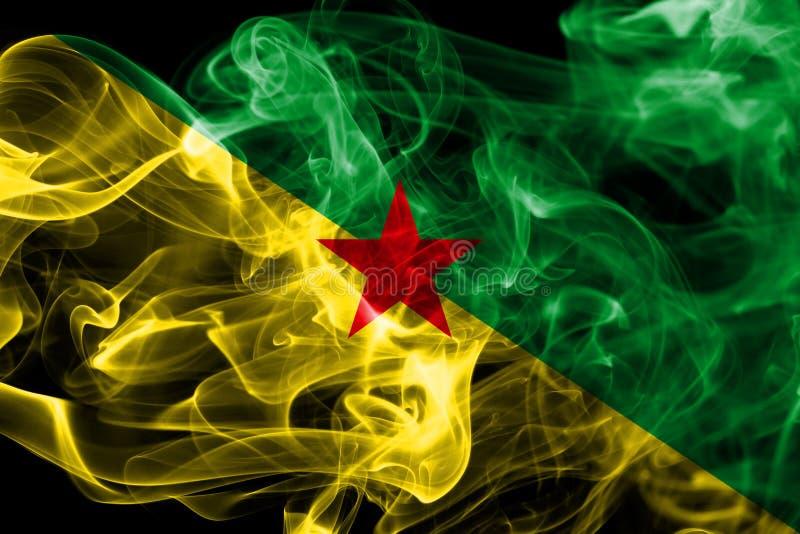 Franska Guyana rökflagga, Frankrike beroende territoriumflagga arkivbild