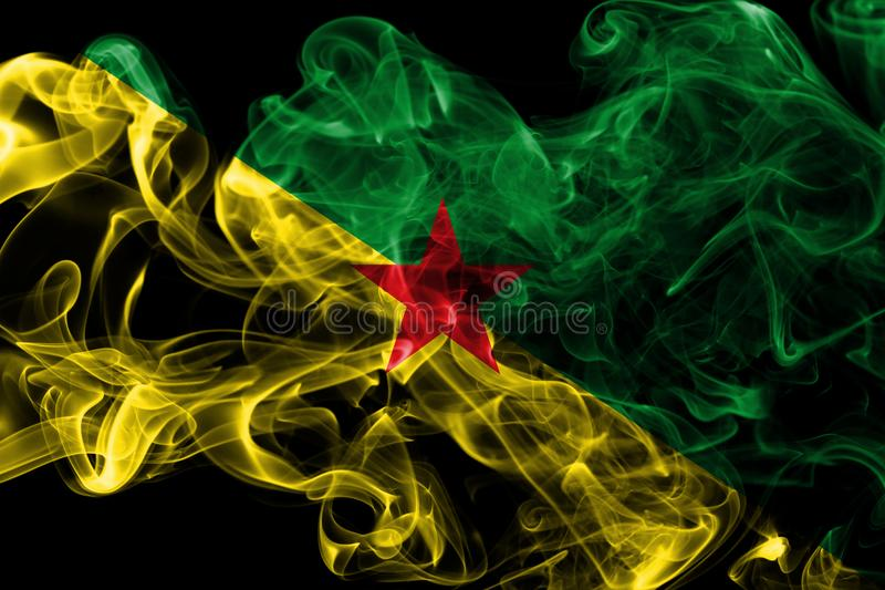 Franska Guyana rökflagga, Frankrike beroende territoriumflagga royaltyfri foto