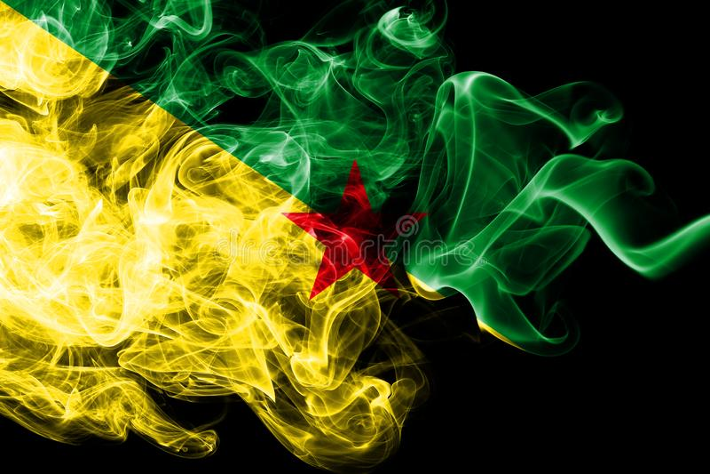 Franska Guyana rökflagga, Frankrike beroende territoriumflagga vektor illustrationer