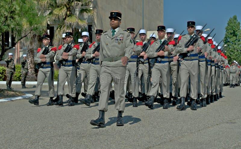 franska legionaries ståtar royaltyfri foto