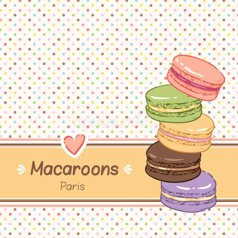 franska macaroons royaltyfri illustrationer