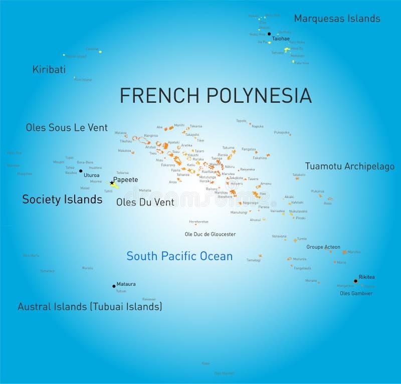 franska polynesia stock illustrationer