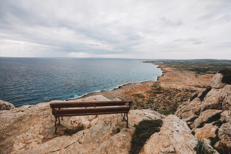 Franska riviera Cavo Greco, Ayia Napa, Cypern royaltyfria foton