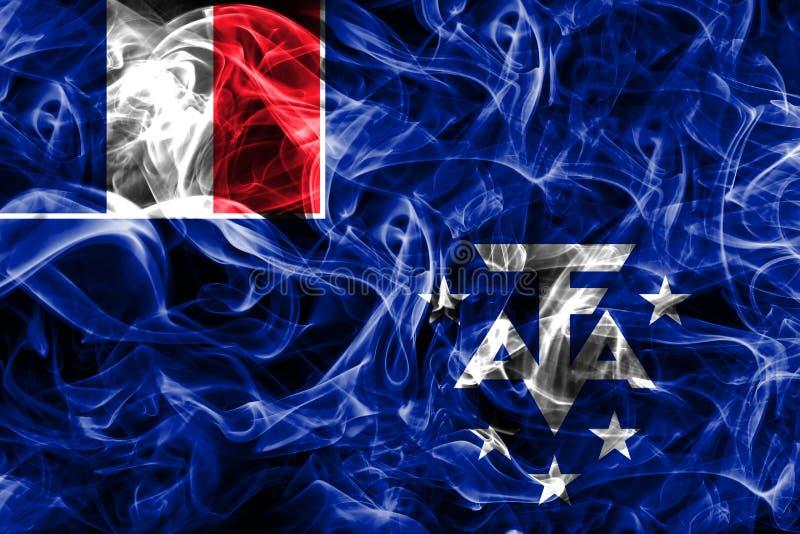 Franska sydliga och antarktiska länder röker flaggan, den Frankrike anhöriget royaltyfri fotografi