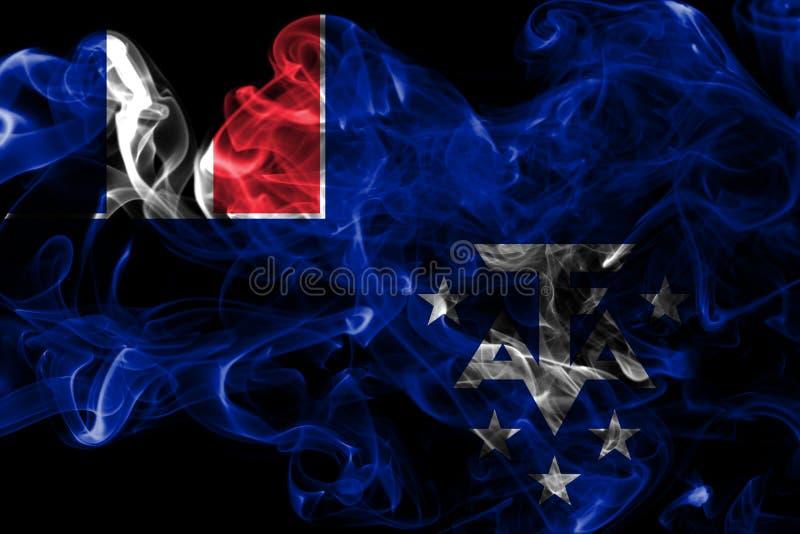 Franska sydliga och antarktiska länder röker flaggan, Frankrike beroende territoriumflagga arkivfoton