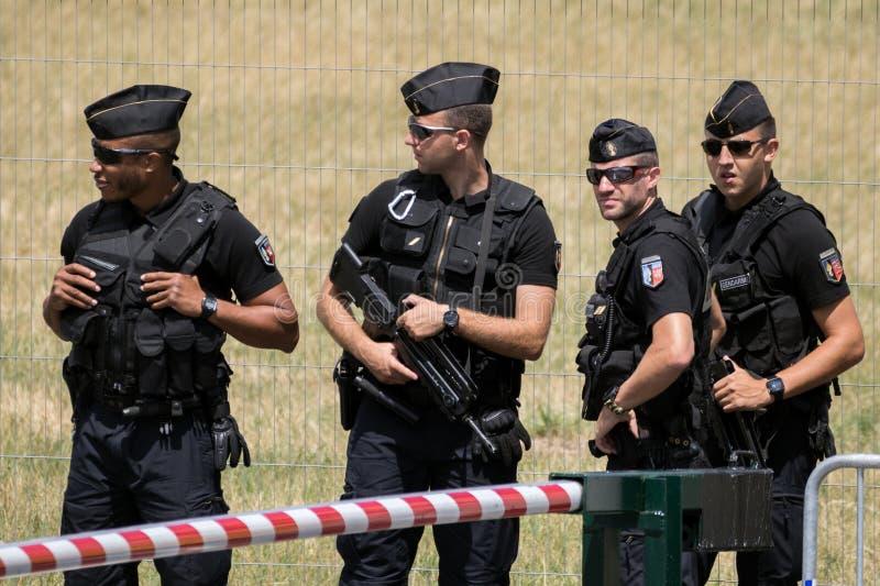 Franska vakter för nationell gendarmeri royaltyfria foton