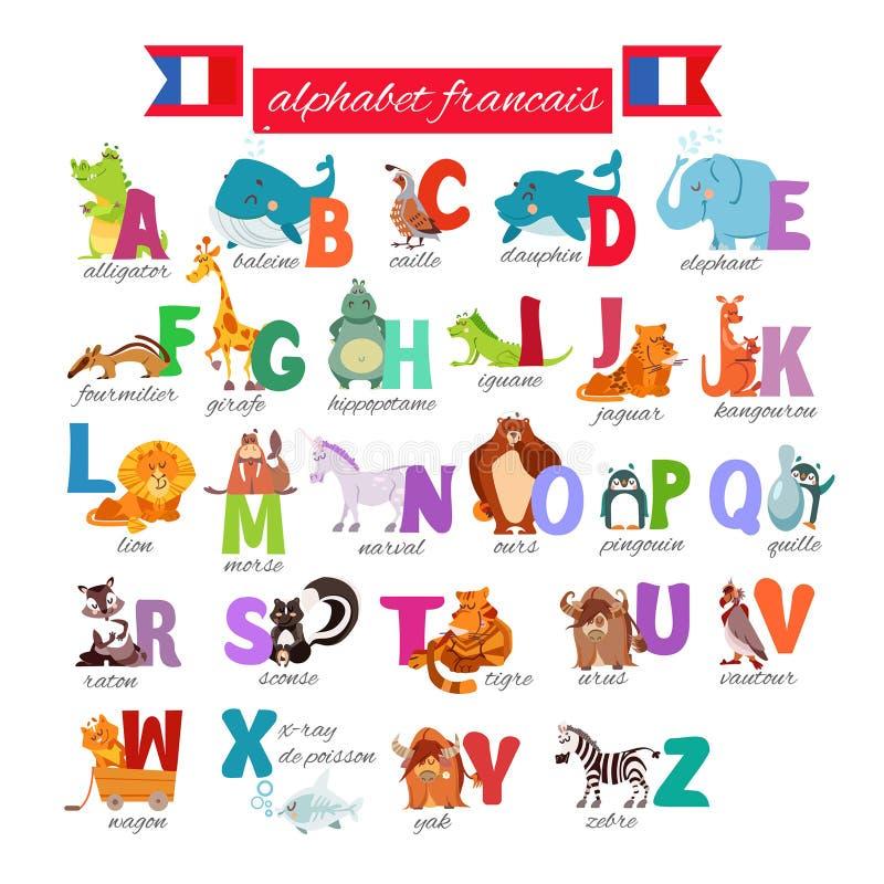 Franskaabc för förskole- utbildning arkivbilder