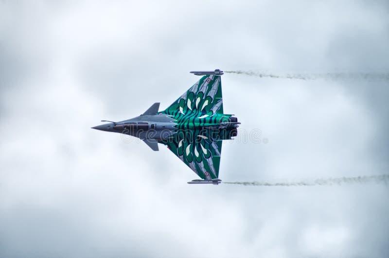 FranskaDassault Rafale kämpe på Radom Airshow, Polen arkivfoto