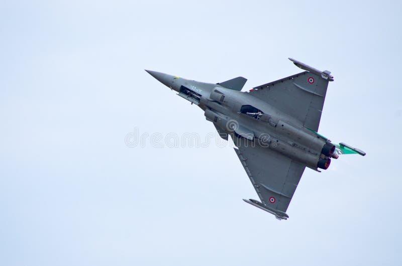 FranskaDassault Rafale kämpe på Radom Airshow, Polen royaltyfria foton
