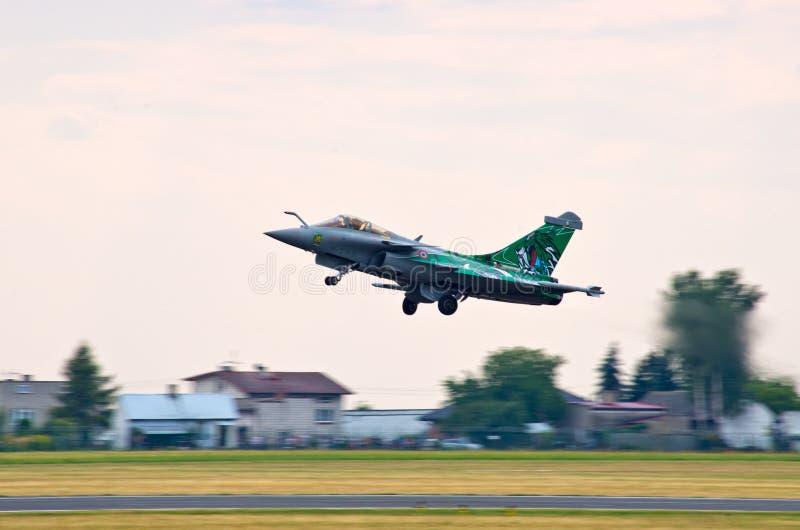 FranskaDassault Rafale kämpe på Radom Airshow, Polen arkivbild