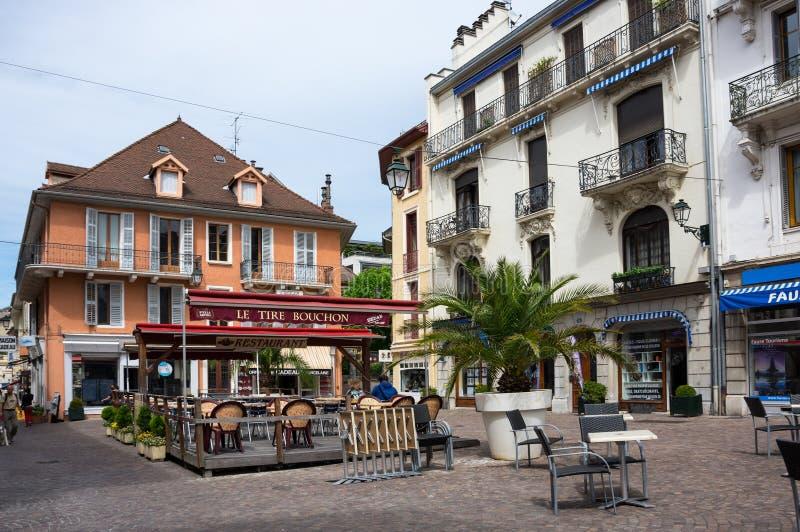 Franskasemesterortaix-Les-Bains arkivbild