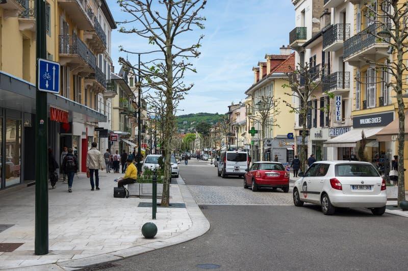 Franskasemesterortaix-Les-Bains royaltyfri fotografi