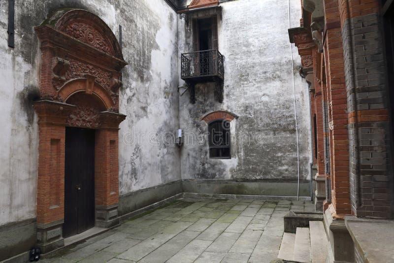 Franskastilhus i Kina konstruktion arkivbilder