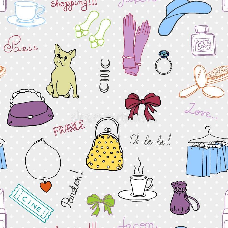 Franskastilmodell stock illustrationer