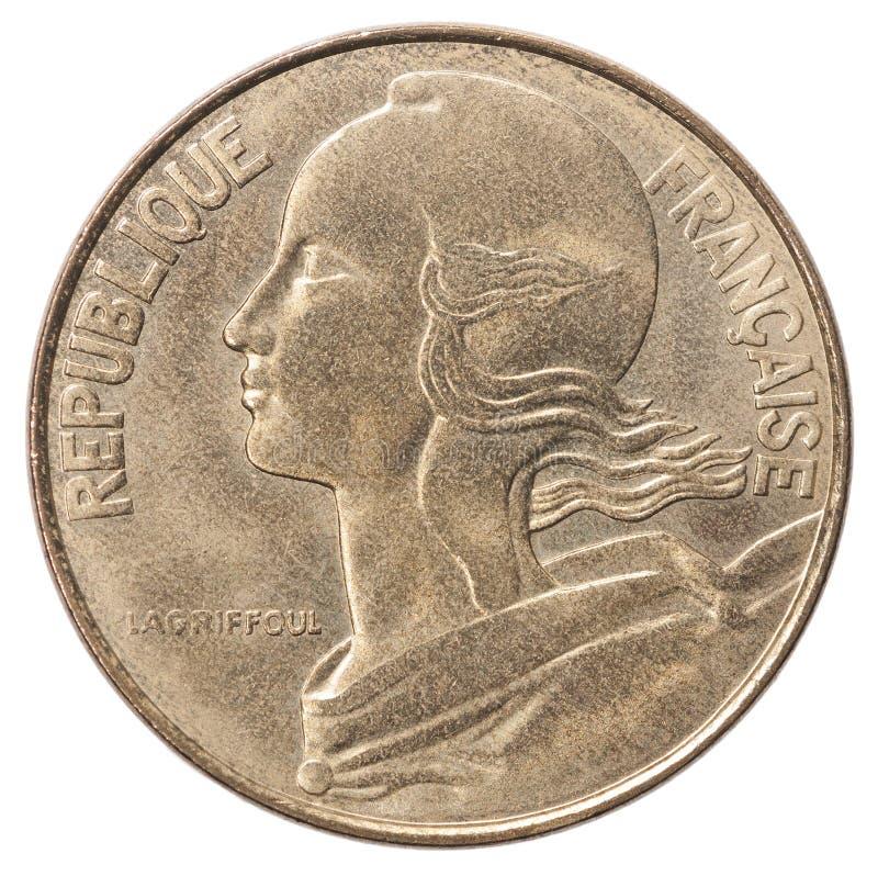 Franskt centimesmynt fotografering för bildbyråer