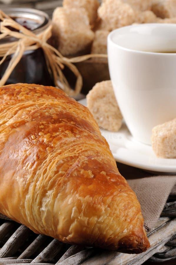 franskt driftstopp för frukostkaffegiffel royaltyfri fotografi