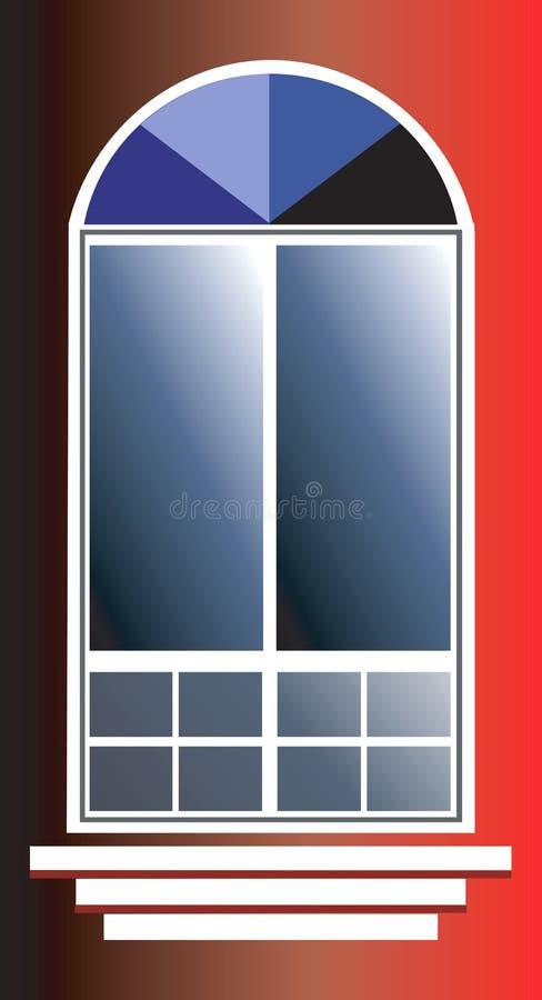 Franskt fönster stock illustrationer