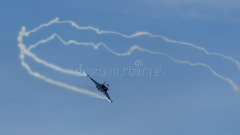 Franskt flygvapenDassault Rafale flygplan arkivbild