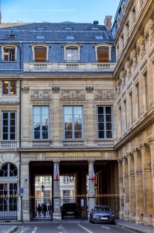 Franskt konstitutionellt råd - Paris, Frankrike arkivbild