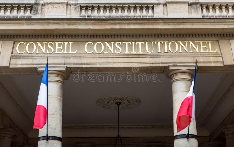 Franskt konstitutionellt r?d - Paris, Frankrike arkivfoton