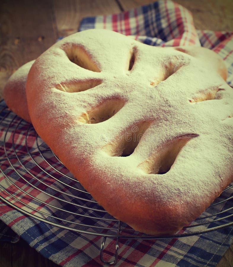 Franskt sött bröd - Fougasse royaltyfri fotografi