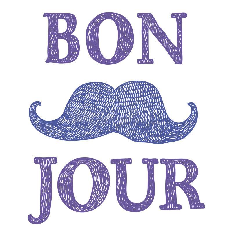 Franskt tecken för ` för bra dag för ` vektor illustrationer