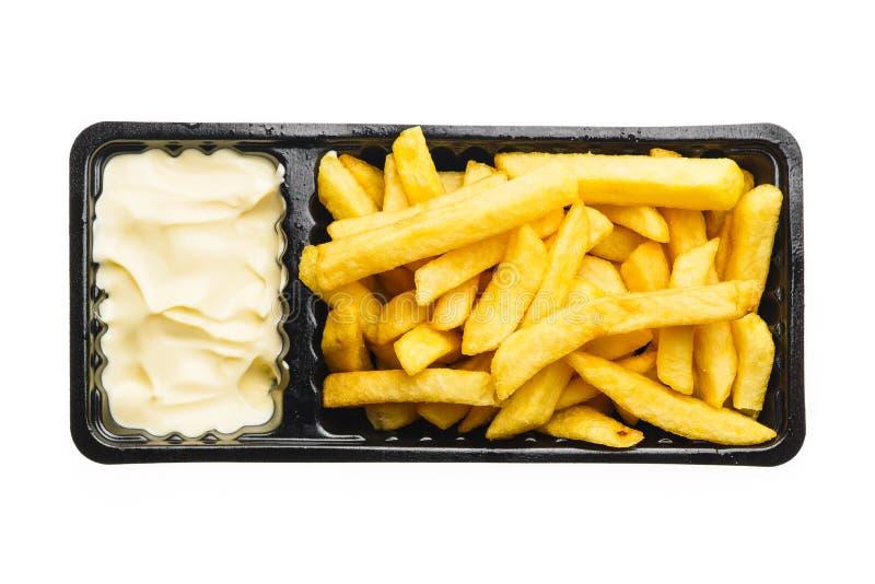 fransmannen steker mayonnaise royaltyfri foto