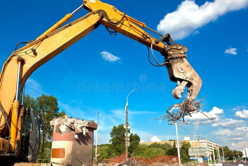 Frantoio concreto idraulico fotografia stock libera da diritti