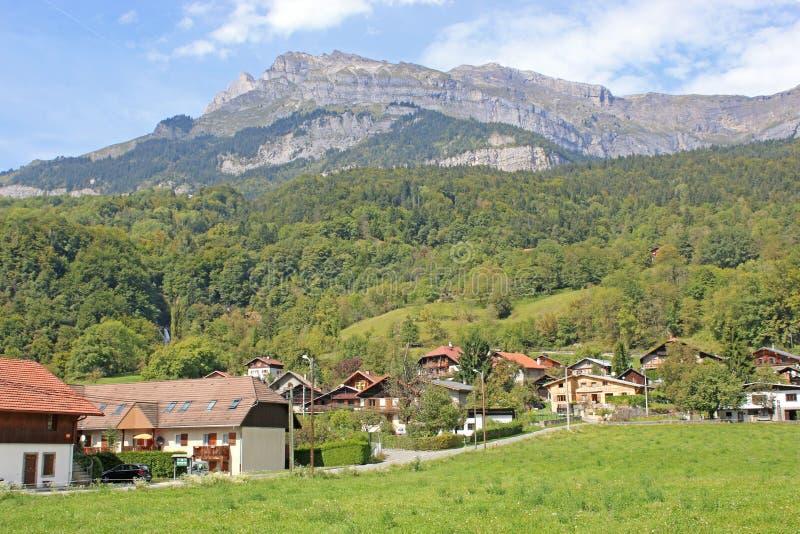 Französische Alpen bei Passy lizenzfreies stockfoto