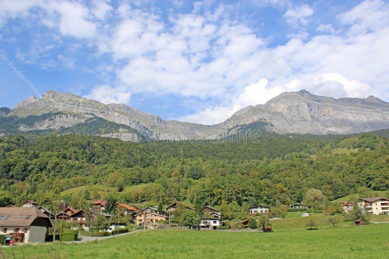 Französische Alpen bei Passy stockfotografie