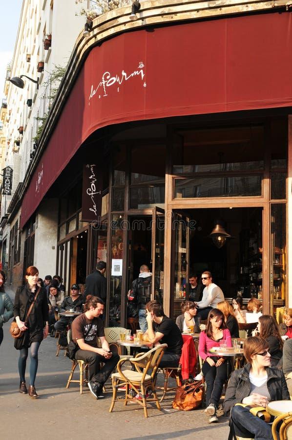 Französische Bierstube stockfotos