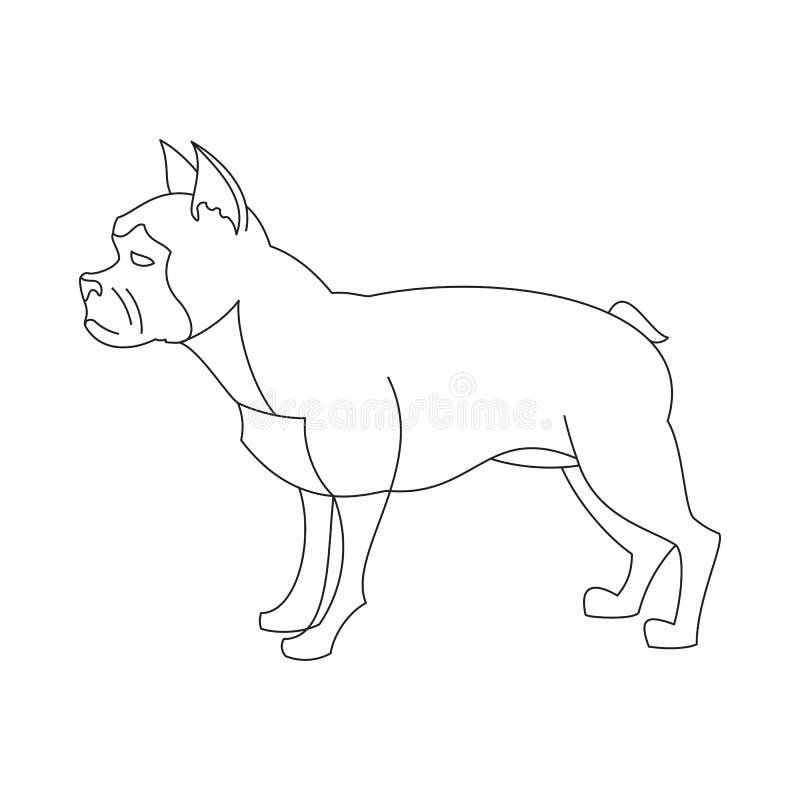 Französische Bulldogge linear lizenzfreie abbildung