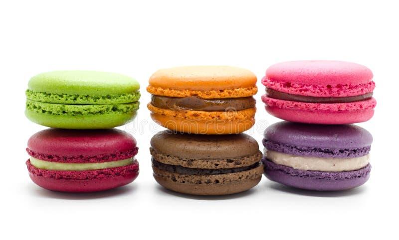 Französische bunte macarons stockbilder