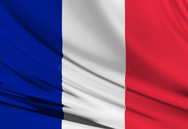 Französische Flagge lizenzfreie abbildung