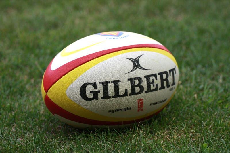 Französische freundliche Rugbyabgleichung USAP gegen das Laufen der Metros lizenzfreies stockbild