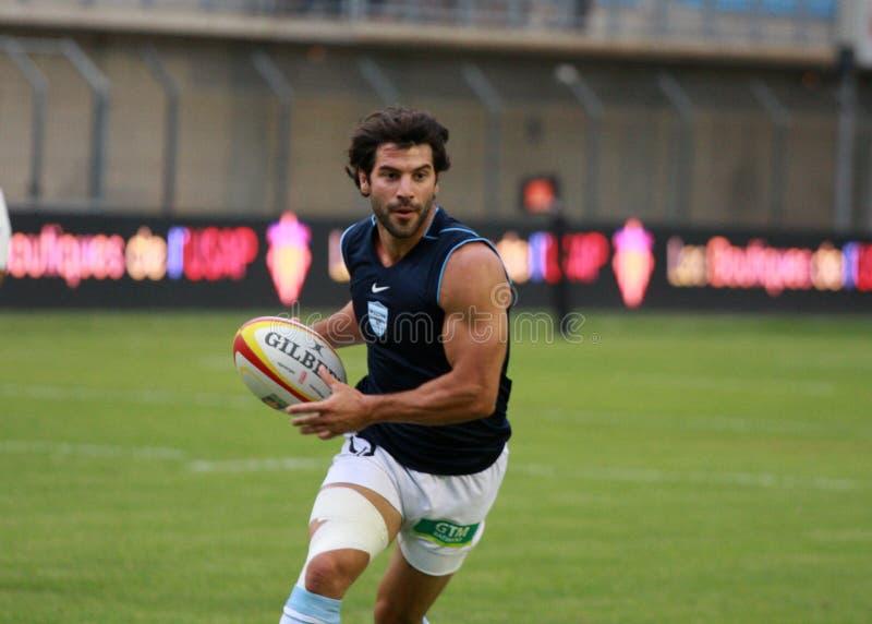 Französische freundliche Rugbyabgleichung USAP gegen das Laufen der Metros lizenzfreie stockbilder